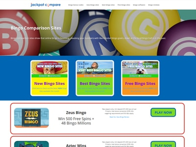 Jackpot Compare Example Website