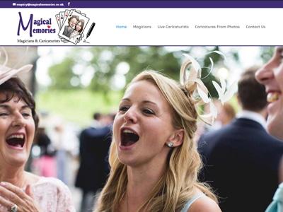 Magical Memories Example Website