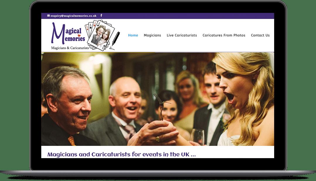 Web design entertainers websites