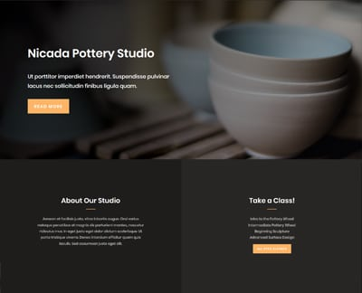 pottery studio example layout