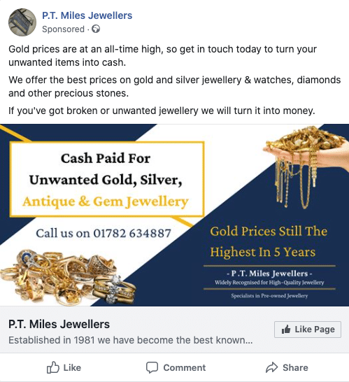 We Buy Gold-page likes