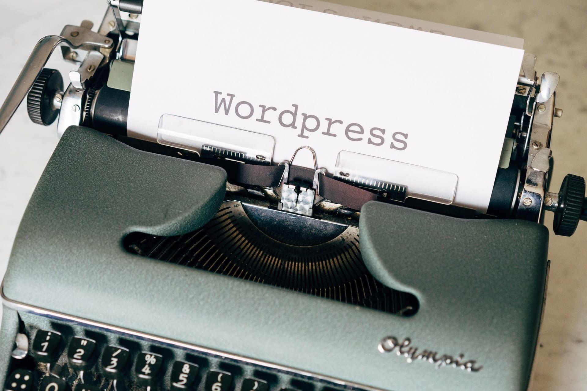 WordPress blog update